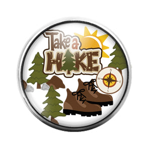 Take A Hike - 18MM Glass Dome Candy Snap Charm GD0901