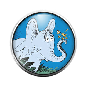 Dr. Seuss - 18MM Glass Dome Candy Snap Charm GD1424