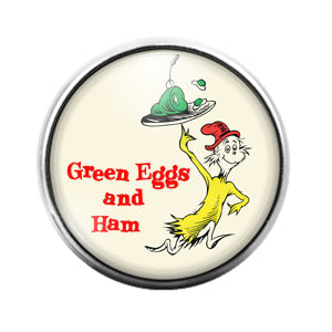 Dr. Seuss - 18MM Glass Dome Candy Snap Charm GD1425