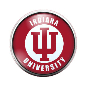 Indiana University - 18MM Glass Dome Candy Snap Charm GD0574