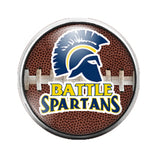 Battle Spartans Football- 18MM Glass Dome Candy Snap Charm GD0825