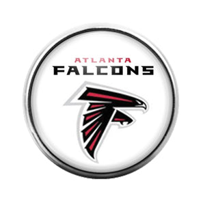 Atlanta Falcons - 18MM Glass Dome Candy Snap Charm GD0597