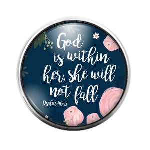 God is Within Her - 18MM Glass Dome Candy Snap Charm GD1518