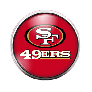 San Francisco 49ers - 18MM Glass Dome Candy Snap Charm GD0598