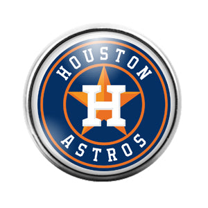 Houston Astros - 18MM Glass Dome Candy Snap Charm GD0600