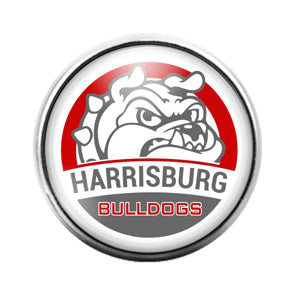 Harrisburg Bulldogs - 18MM Glass Dome Candy Snap Charm GD0830