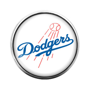 Dodgers - 18MM Glass Dome Candy Snap Charm GD0601