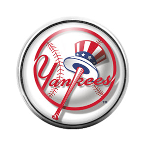 Yankees - 18MM Glass Dome Candy Snap Charm GD0602