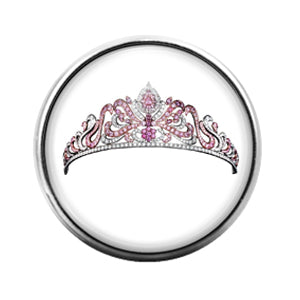 Tiara Crown- 18MM Glass Dome Candy Snap Charm GD0960