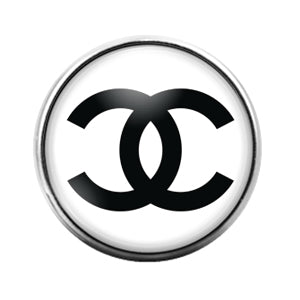 Coco Chanel- 18MM Glass Dome Candy Snap Charm GD0973
