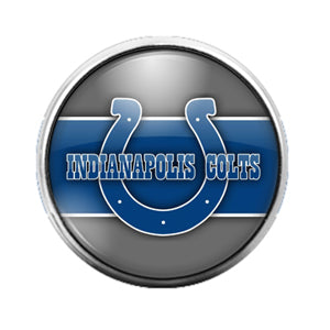 Indianapolis Colts - 18MM Glass Dome Candy Snap Charm GD0604