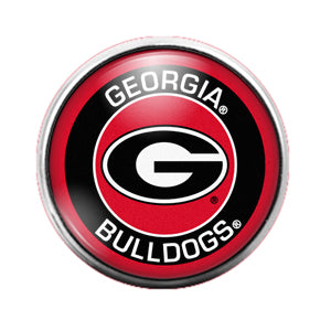 Georgia Bulldogs - 18MM Glass Dome Candy Snap Charm GD0605