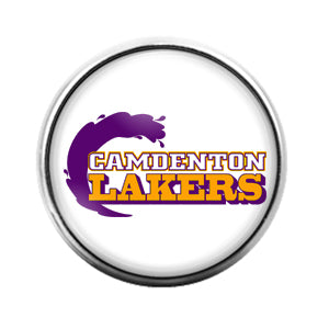Camdenton Lakers - 18MM Glass Dome Candy Snap Charm GD0834