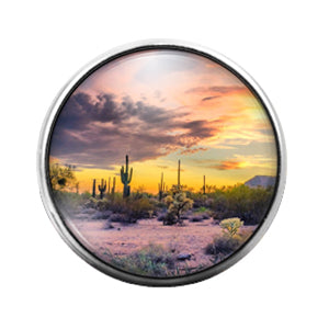 Arizona- 18MM Glass Dome Candy Snap Charm GD1029