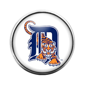 Detroit Tigers - 18MM Glass Dome Candy Snap Charm GD0839