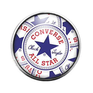 Converse All Star- 18MM Glass Dome Candy Snap Charm GD1044