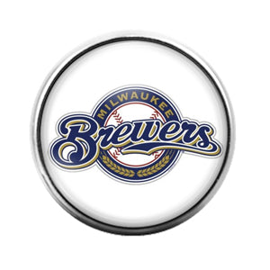 Milwaukee Brewers - 18MM Glass Dome Candy Snap Charm GD0841