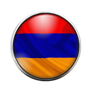 Armenian Flag- 18MM Glass Dome Candy Snap Charm GD1053