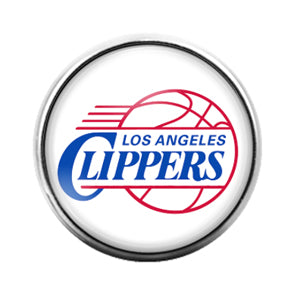 Los Angeles Clippers - 18MM Glass Dome Candy Snap Charm GD0842