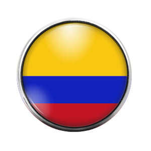 Columbian Flag- 18MM Glass Dome Candy Snap Charm GD1055