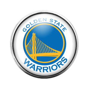 Golden State Warriors - 18MM Glass Dome Candy Snap Charm GD0843