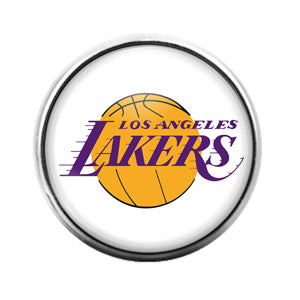 Los Angeles Lakers - 18MM Glass Dome Candy Snap Charm GD0845