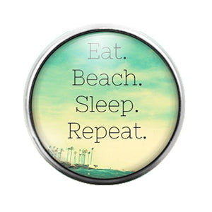 Beach Sea Nautical- 18MM Glass Dome Candy Snap Charm GD1076