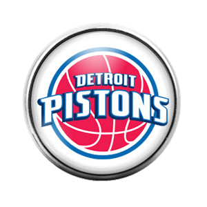 Detroit Pistons - 18MM Glass Dome Candy Snap Charm GD0846