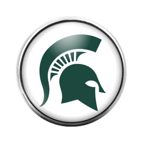 Michigan State Spartans - 18MM Glass Dome Candy Snap Charm GD0849