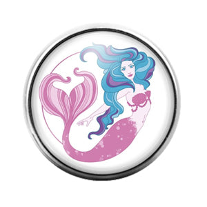 Mermaid - 18MM Glass Dome Candy Snap Charm GD1222