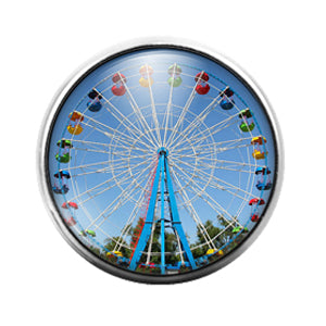 Ferris Wheel - 18MM Glass Dome Candy Snap Charm GD1410