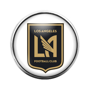 Los Angeles Football Club - 18MM Glass Dome Candy Snap Charm GD0851