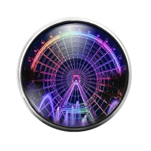 Ferris Wheel - 18MM Glass Dome Candy Snap Charm GD1411