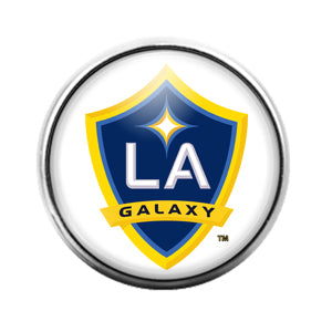 Los Angeles Galaxy - 18MM Glass Dome Candy Snap Charm GD0853
