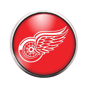Detroit Red Wings - 18MM Glass Dome Candy Snap Charm GD0854