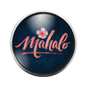 Mahalo - 18MM Glass Dome Candy Snap Charm GD1409