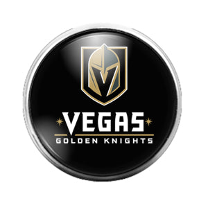 Las Vegas Golden Knights - 18MM Glass Dome Candy Snap Charm GD0855