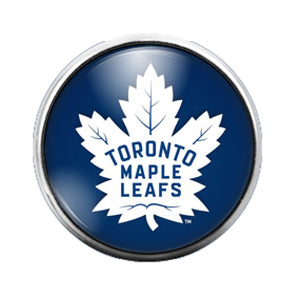 Toronto Maple Leafs - 18MM Glass Dome Candy Snap Charm GD0856