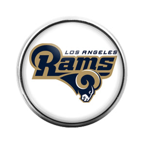 Los Angeles Rams - 18MM Glass Dome Candy Snap Charm GD0858