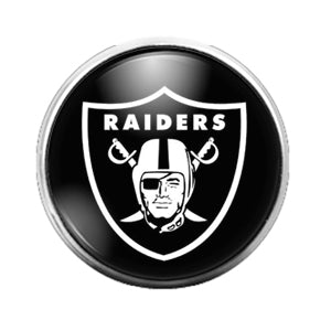 Los Angeles Raiders - 18MM Glass Dome Candy Snap Charm GD0859