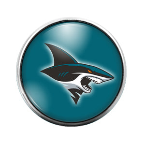 San Jose Sharks - 18MM Glass Dome Candy Snap Charm GD0920