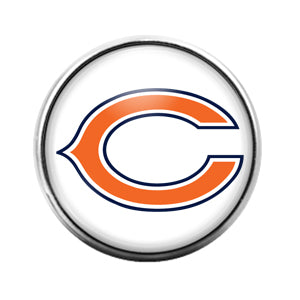Chicago Bears - 18MM Glass Dome Candy Snap Charm GD0932