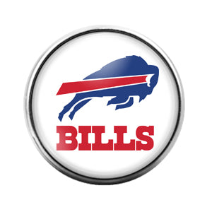 Buffalo Bills- 18MM Glass Dome Candy Snap Charm GD0941