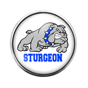 Sturgeon Bulldogs - 18MM Glass Dome Candy Snap Charm GD1524