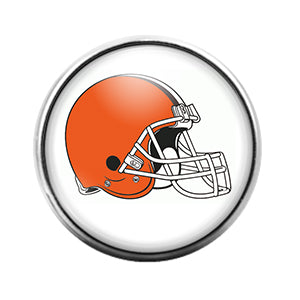 Cleveland Browns- 18MM Glass Dome Candy Snap Charm GD0942