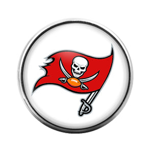 Tampa Bay Buccaneers- 18MM Glass Dome Candy Snap Charm GD0943