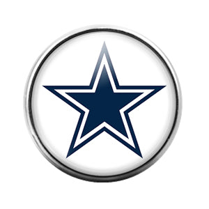 Dallas Cowboys- 18MM Glass Dome Candy Snap Charm GD0944