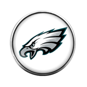 Philadelphia Eagles- 18MM Glass Dome Candy Snap Charm GD0945