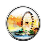 Ferris Wheel - 18MM Glass Dome Candy Snap Charm GD1413