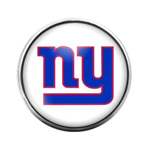 New York Giants- 18MM Glass Dome Candy Snap Charm GD0946